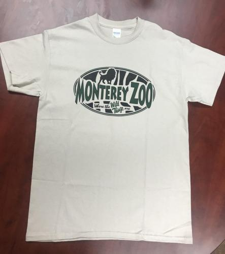 Adult Monterey Zoo T-Shirt $20<br />Sizes: XXL, XL, L, M, S