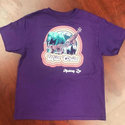 Kids Wild Child Shirt $15<br />Sizes: 2-4, 6-8, 10-12, 14-16