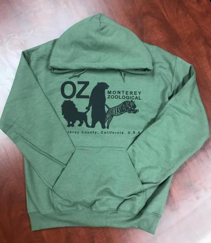 Adult Monterey Zoo OZ Hooded Sweatshirt $45<br />Sizes: XXL, XL, L, M, S