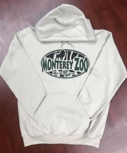 Adult Monterey Zoo Hooded Sweat Shirt $45<br />Sizes: XXL, XL, L, M, S