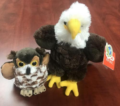 Plush Birds of Prey $8.00-$17.50