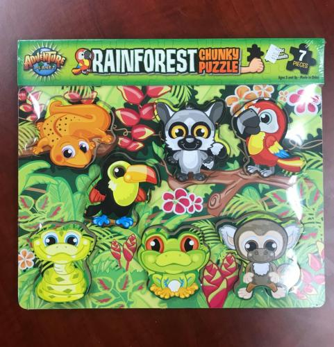 Rain Forest Wood Puzzle $10