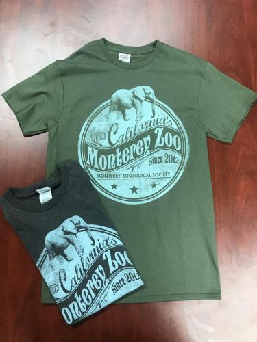Adult Nostalgic Monterey Zoo T-Shirt $20<br />Sizes: XXL, XL, L, M, S