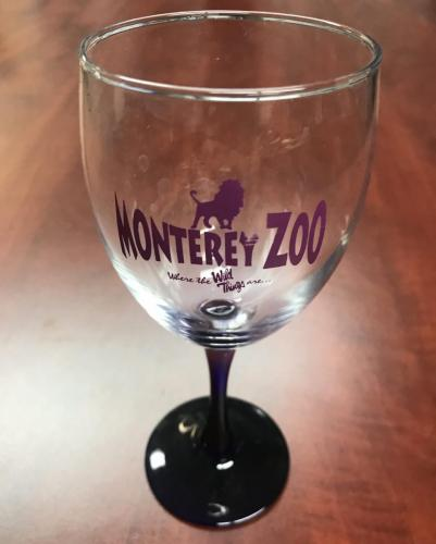 Monterey Zoo Wine Glass $12